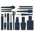 Collection of womens cosmetics for your design vector image