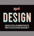 colourful 3d alphabet font design vector image