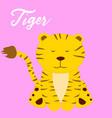 cute tiger baby girl cartoon vector image vector image