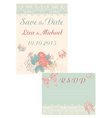 Design in retro-style cards Save the date and RSVP vector image