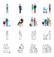 design of character and avatar sign vector image vector image