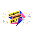 discount summer sale 3d sale banner with text vector image