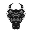 Dragon icon in black style isolated on white vector image