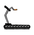 drawing fitness walking machine gym design vector image