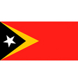 east timorese flag vector image