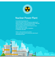 Electric Power Transmission from a Power Plant vector image vector image