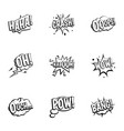 emotions in speech bubble icons set outline style vector image vector image