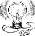 energy efficient burning electricity vector image vector image