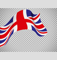 england flag on transparent background vector image vector image