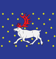 flag of vesterbotten is a province in the north vector image vector image