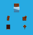 flat icon sweet set of wrapper delicious cocoa vector image vector image