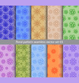 Floral pattern seamless set design for wallpaper