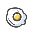 fried egg cooked icon cartoon vector image
