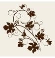 grape vine silhouette vector image vector image