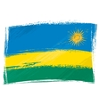 Grunge Rwanda flag vector image