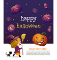 halloween party invitation template card vector image vector image