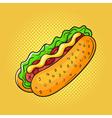 hand drawn pop art of sandwich vector image