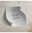 Happy Easter realistic paper Banner Template vector image