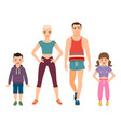 happy family in sport style clothes vector image vector image