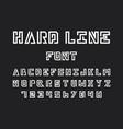 hard line font alphabet vector image vector image