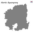 high quality map province south korea vector image vector image