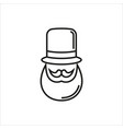 hipster black and white vector image