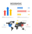 infographics business template design elements vector image vector image