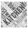 kitchen curtains Word Cloud Concept vector image vector image