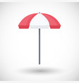 lifeguard umbrella flat icon vector image