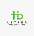 logo abstract letter gradient colorful vector image vector image