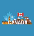 main tourist symbols canada vector image