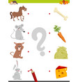 match pictures game for kids vector image vector image