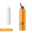 matte aluminum nasal spray bottle with label vector image