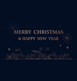 merry christmas city simple outline linear style vector image vector image