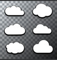 modern halftone cloud icons set vector image