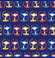 monkeys in rows on blue seamless background vector image vector image