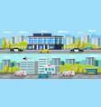 municipal transport horizontal banners vector image vector image