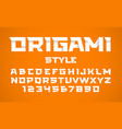 origami style font vector image vector image
