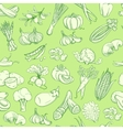 Outline hand drawn vegetable pattern flat style vector image