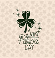 poster saint patricks day with clover of three vector image