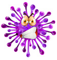 Purple freeform with angry face vector image vector image