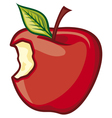 Red bitten apple vector | Price: 1 Credit (USD $1)