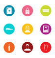 scripture icons set flat style vector image vector image