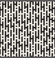 seamless black and white lines maze pattern vector image vector image