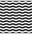 Seamless black and white wave pattern vector image vector image