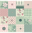 Seamless patchwork in shabby chic style vector image