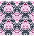 Seamless pink Luxury Damask design vector image