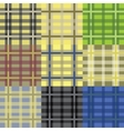 Set of seamless tartan patterns vector image vector image