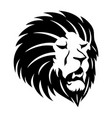 sign of a black lion vector image vector image