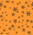 spider web seamless pattern for halloween vector image